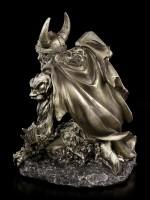 Thor Figurine with Hammer Mjolnir