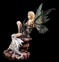 Elfen Figur Dominique mit Drache