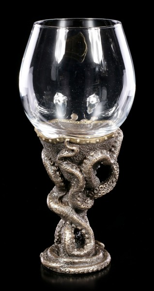 Octopus Steampunk Wine Glass - Toast of the Tentacle