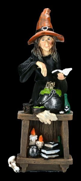 Witch Figurine Brewing a Magic Potion