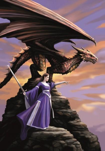 Drachen Grußkarte - The Sentinel