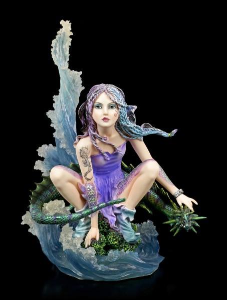 Water Fairy Figurine with Dragon