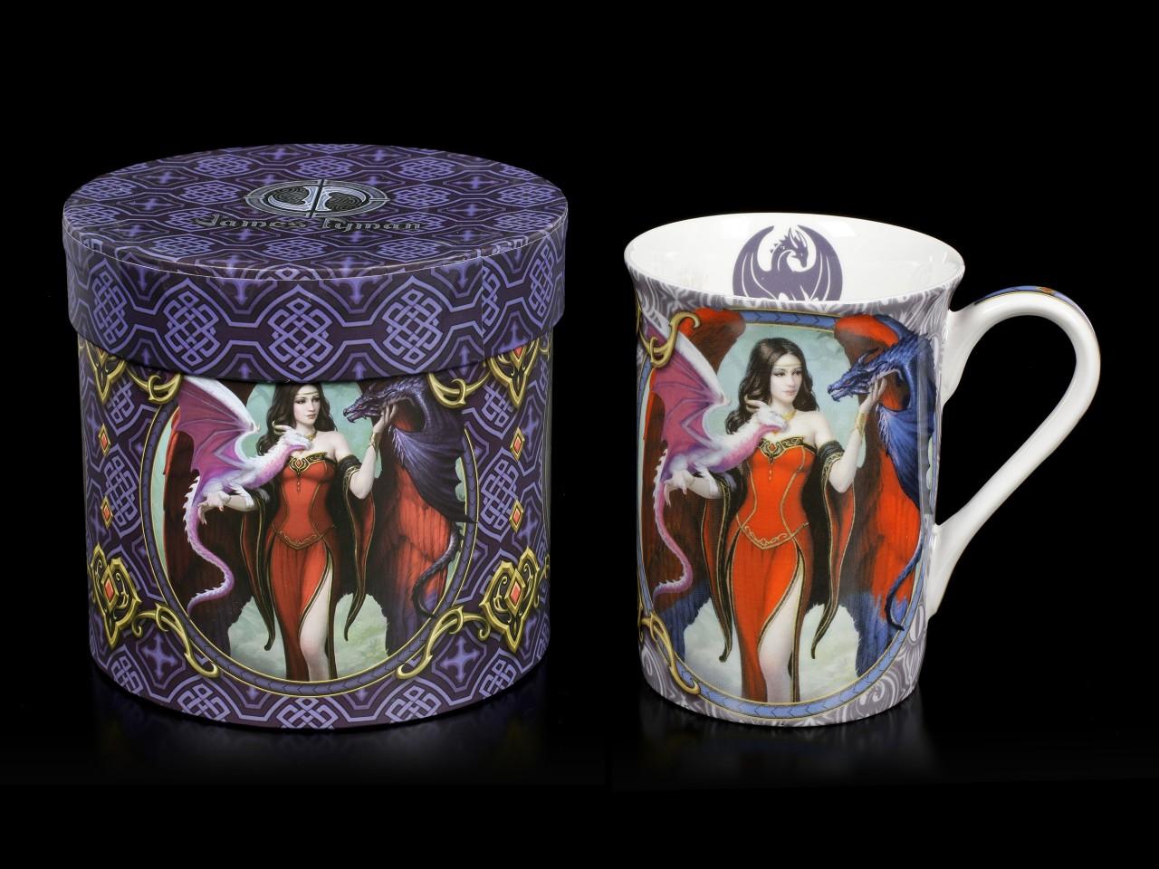 Porzellan Tasse mit Drache - Dragon Mistress