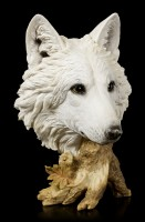 Large Wolf Head Bust - Winter Time