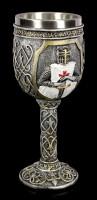 Ritter Kelch - Kreuzritter hält Schwert - bunt