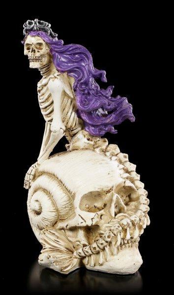 Skelett Figur - Meerjungfrau auf Totenkopf