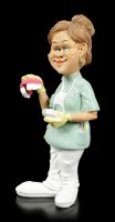 Funny Job Figurine - Female Dentist with Denture