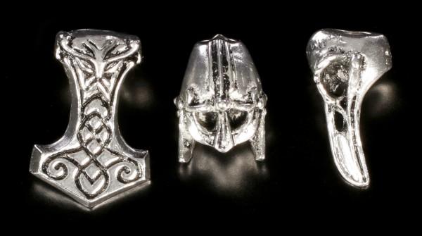 Alchemy Gothic Hair Accessories - Norsebraid Hair Beads