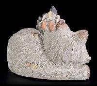 Garden Figurine - Lying Fox in Stone Look