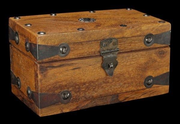 Mittelalterliche Holz Box - Rechteckig