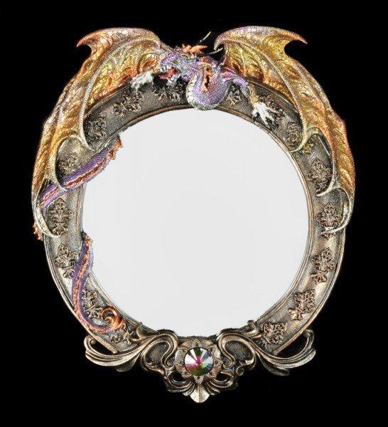Drachen Spiegel - Dark Legends - rund