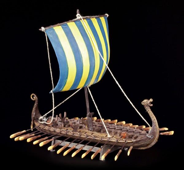 Viking Ship - Drakkar - Blue Sail