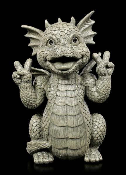 Garden Figurine Dragon - Peace