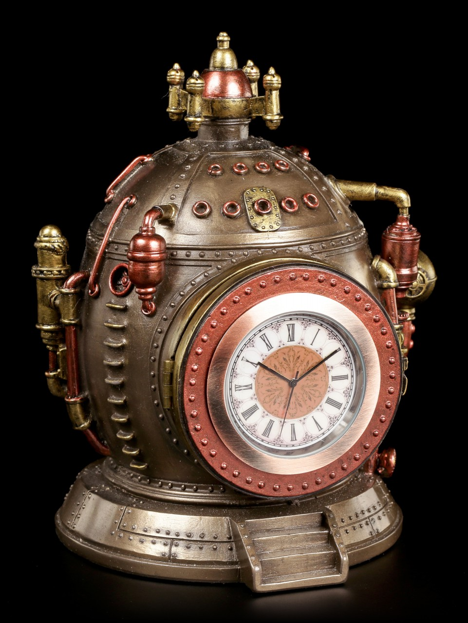 Steampunk Kessel Schatulle mit Uhr