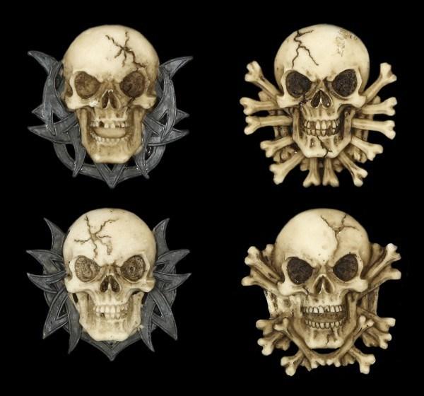 Magnet - Totenkopf - 4er Set