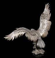 Adler Figur mit ausgebreiteten Flügeln - bronziert