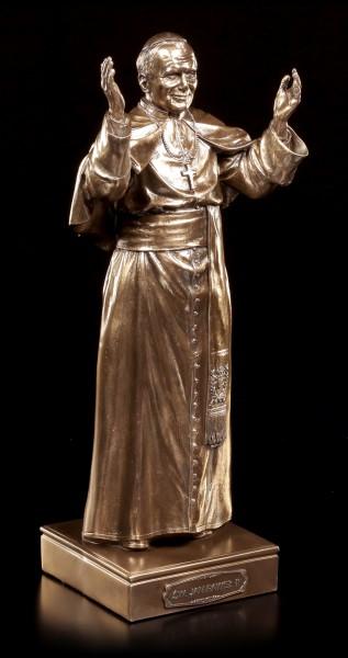 Papst Johannes Paul II Figur - bronziert