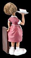 Funny Jobs Figur - Kellnerin mit Tablett