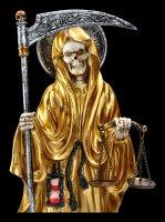 Santa Muerte Figur - goldfarben