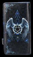 Purse with Angel - Raven - embossed