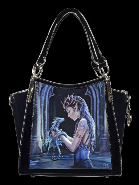 Gothic Handbag with 3D Picture - Water Dragon