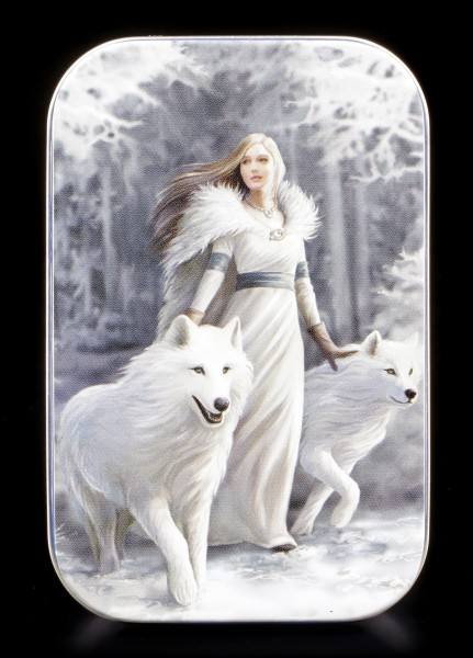Metall Dose mit Wolf - Winter Guardians by Anne Stokes