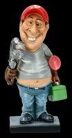 Funny Job Figur - Klempner mit Rohrzange
