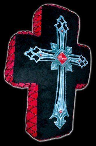 Spiral Gothic Kissen - Fallen Angel Cross