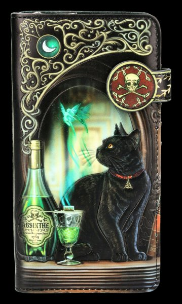 Purse with Cat - Absinthe - embossed