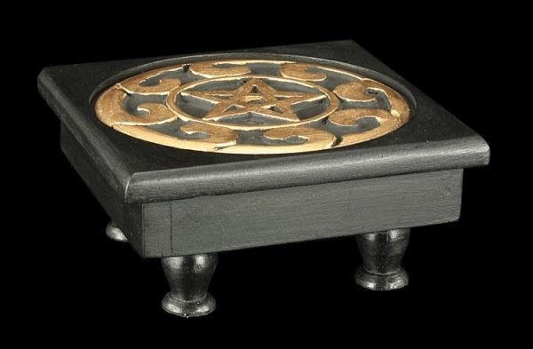 Tisch Altar - Pentagramm - schwarz