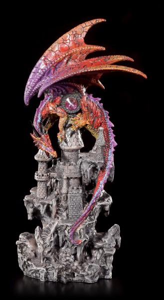 Bunte Drachen Figur - Wächter von Castle Black