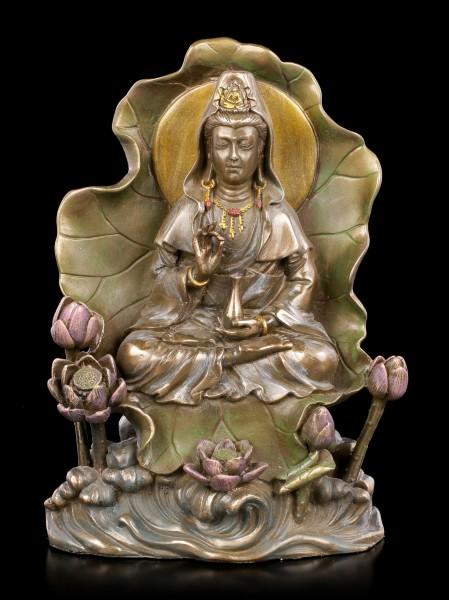 Lotus Kuan Yin Figurine