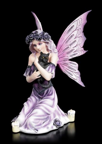 Fairy Figurine - Reyna kneeling with Cat