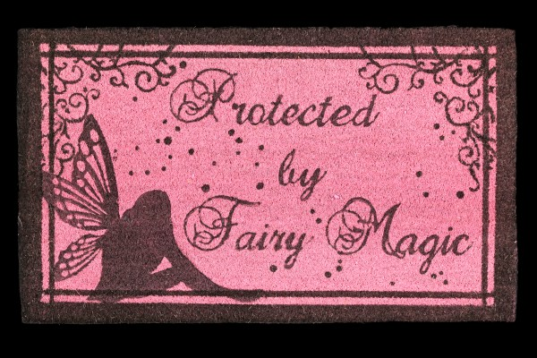 Fantasy Fußmatte mit Elfe - Protected by Fairy Magic