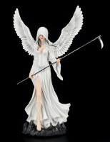 Large White Angel with Scythe - Innocent Death