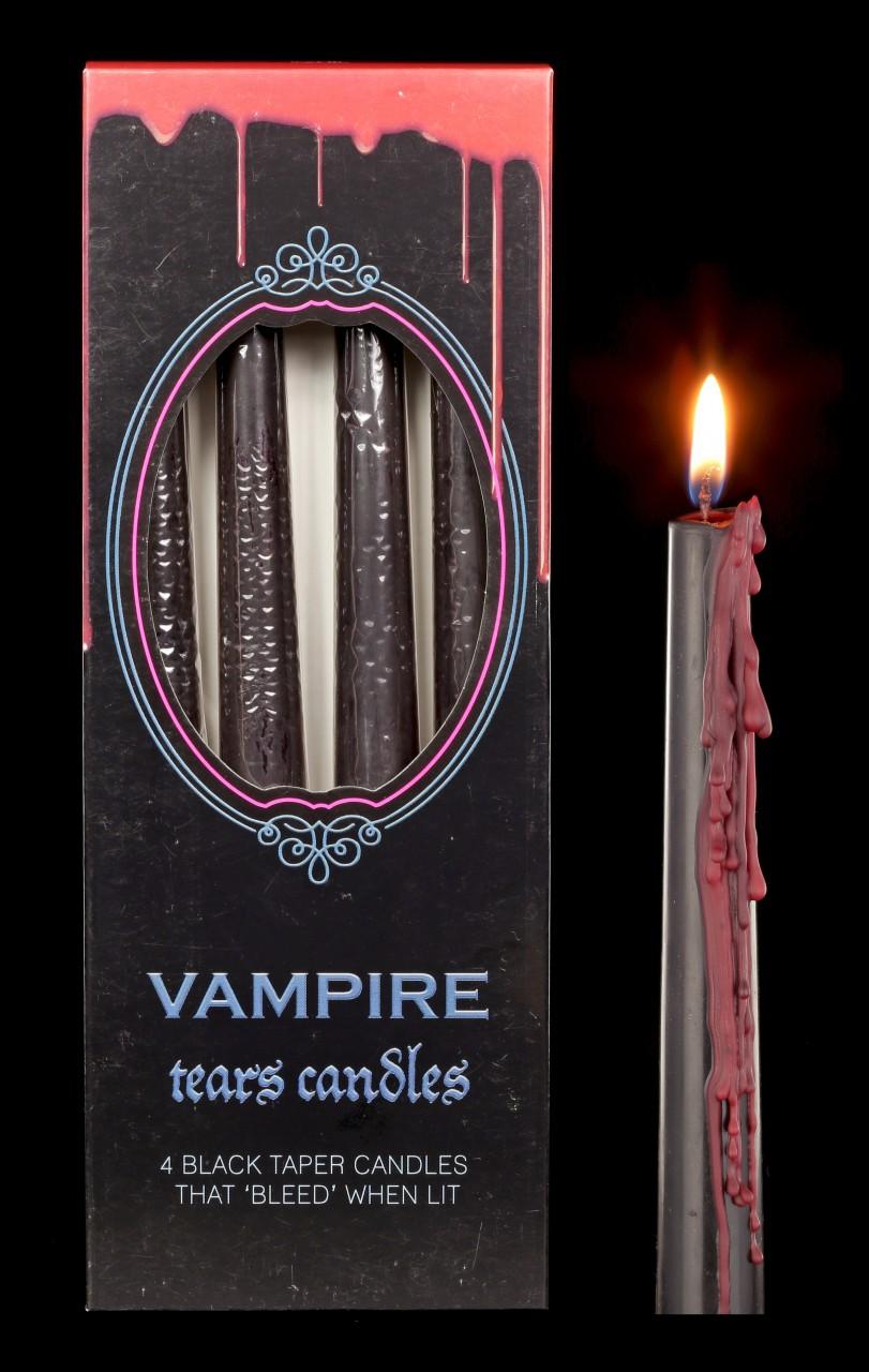 Tropfkerzen reversibel 4er Set - Vampir Tränen