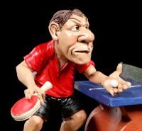 Tischtennisspieler Figur beim Aufschlag - Funny Sports