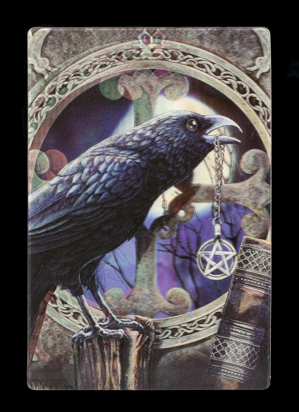 3D Postcard with Raven - Talisman