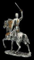 Zinn Ritter auf Pferd mit Schwert