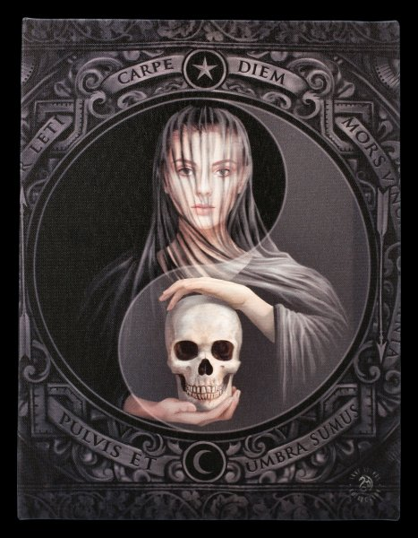 Small Canvas with Skull - Beyond the Veil