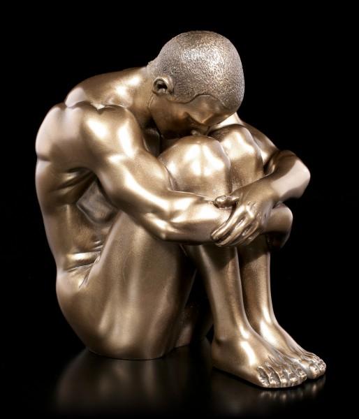 Männliche Akt Figur - Am Boden sitzend