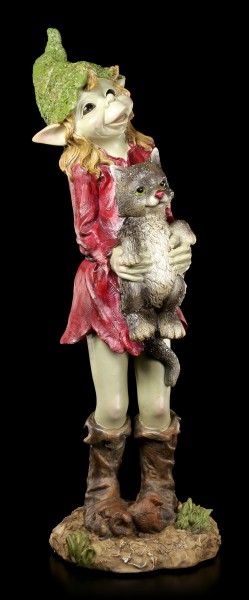 Large Pixie Figurine - Baby Cats are Cute