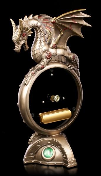 Steampunk Tischuhr - Drachenauge