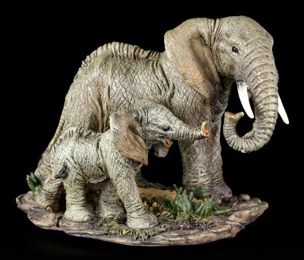 Elefanten Familie Figur - Mama und Kind