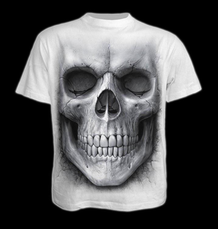 T-Shirt Weiß - Totenkopf Solemn Skull