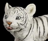 Weiße Tiger Figur - Baby tapsend