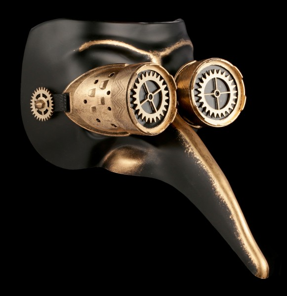 Preview: Steampunk Mask - Black Death
