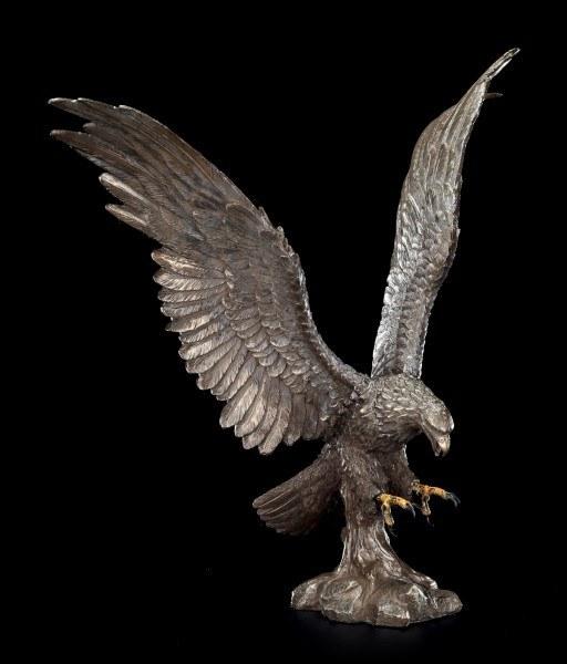 Große Adler Figur im Angriff - bronziert