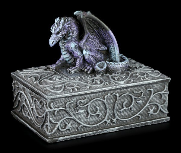 Square Dragon Box purple