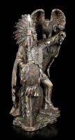Native Indian Figurine - Chief with Eagle